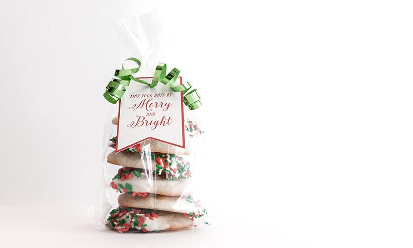 袋に詰められたクッキー
