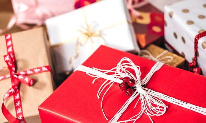 大量のプレゼント
