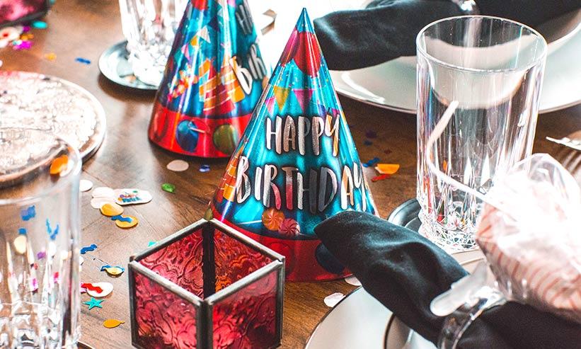誕生日の小物