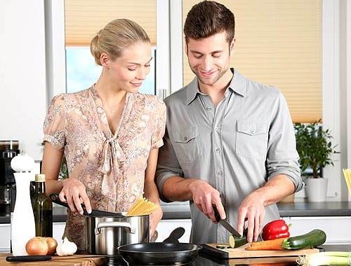 料理 男女 カップル 夫婦