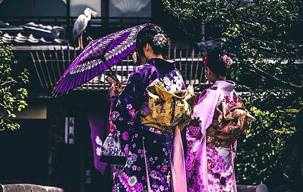 日本 女性 着物