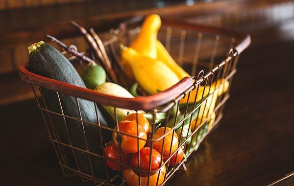 買い物かご 野菜