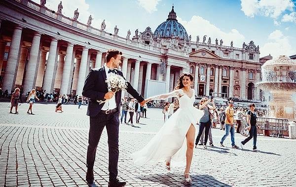イタリア カップル 結婚