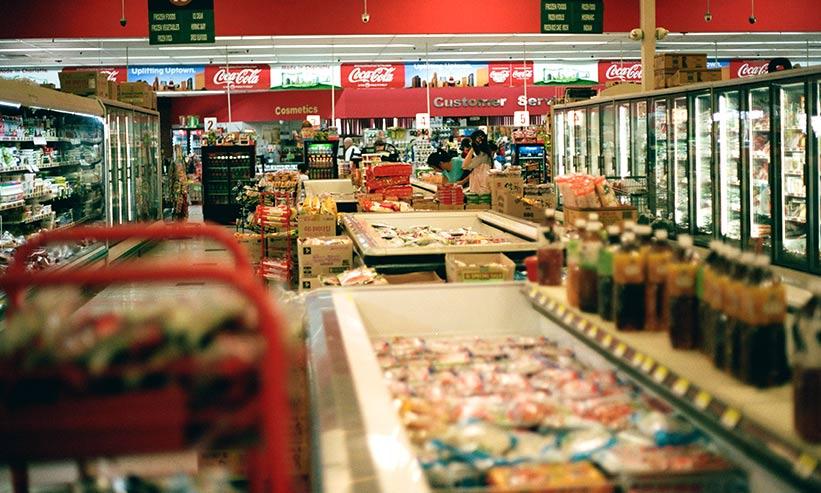 スーパーの中の様子