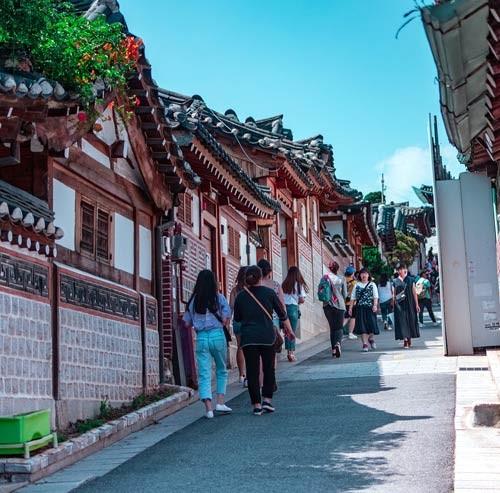 韓国の街並み
