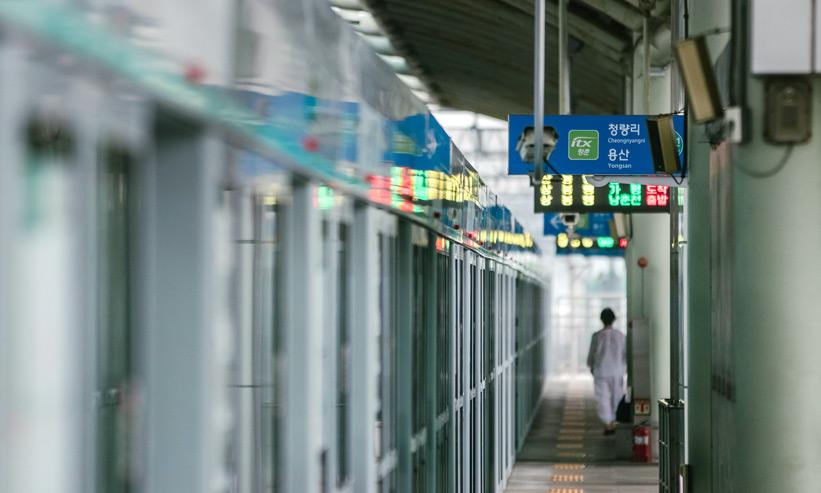 駅の構内の風景