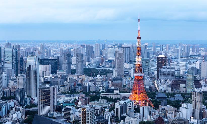 上空から見た東京の風景
