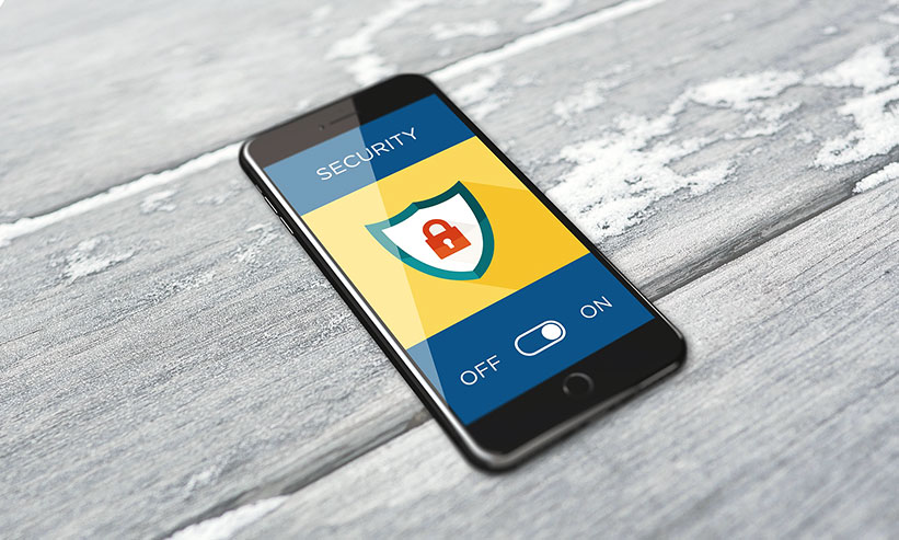 スマートフォンのセキュリティ画面