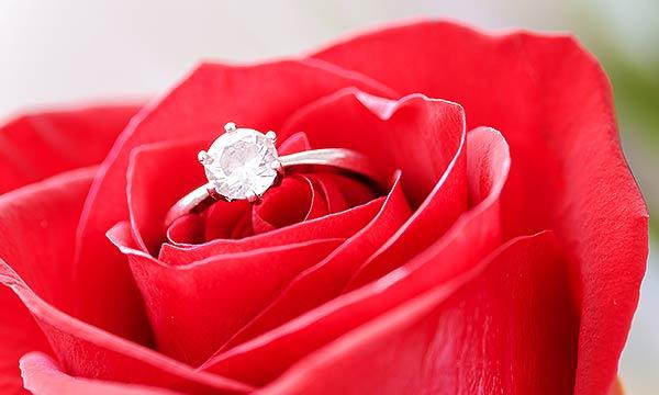 バラと指輪