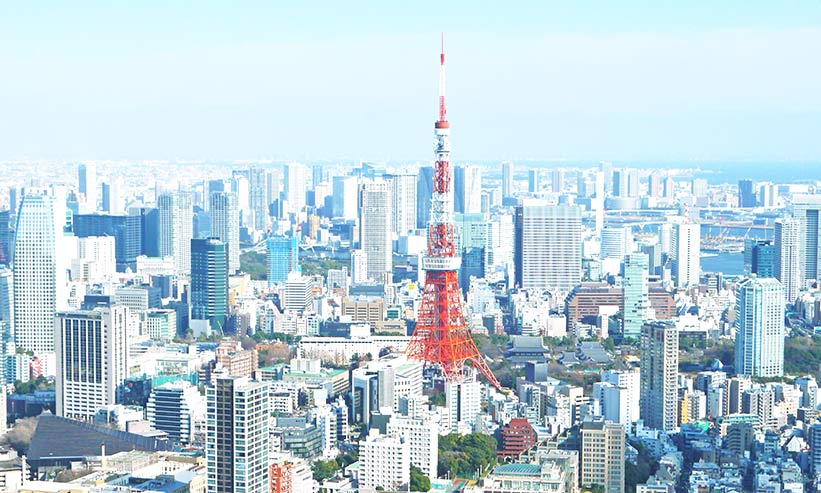 東京タワーと周辺の街並み