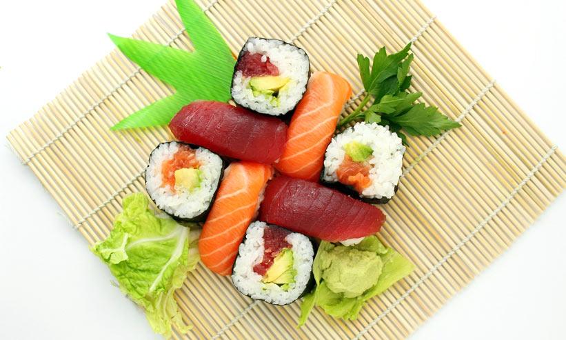 きれいに並んでいるお寿司