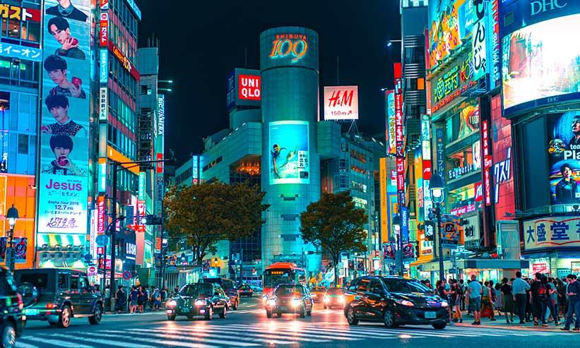 渋谷109周辺の様子