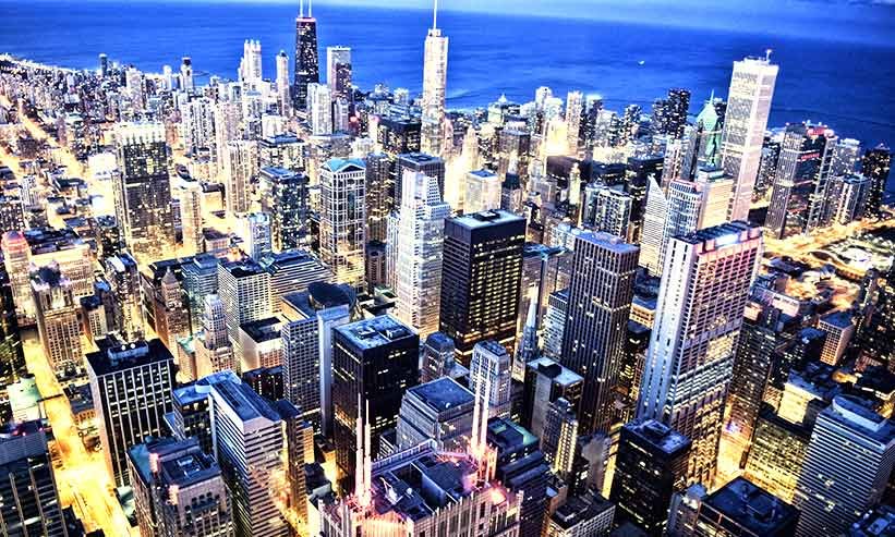 街中の夜景