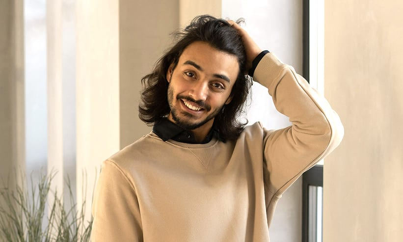 笑顔のイタリア人男性